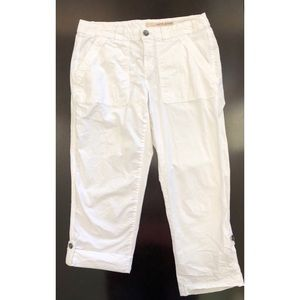 DKNY Jeans white crops cropped capris